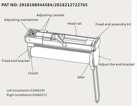 No Screw Installation Roller Blinds System