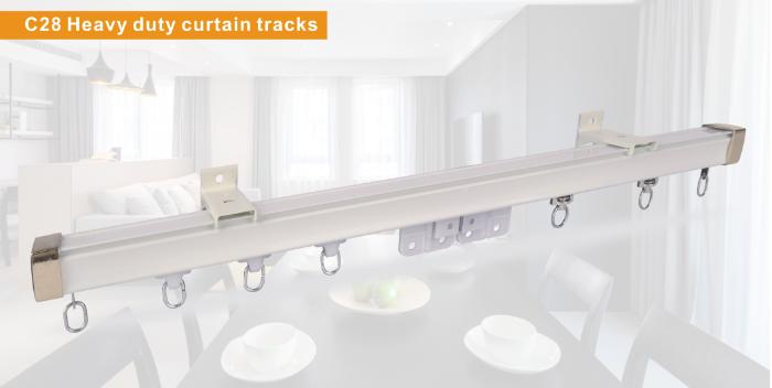 C28 Heavy duty curtain tracks