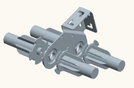 43mm light duty double middle bracket middle joints