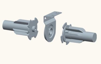 43mm light duty middle bracket middle joints